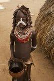 非洲,南埃塞俄比亚, Omo谷24 12 2009年 免版税库存照片