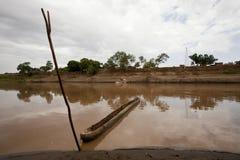 非洲,南埃塞俄比亚, Omo谷Nyangatom部落 免版税库存照片