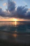 非洲,日落在Mont Choisy在毛里求斯 库存图片