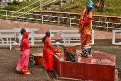 非洲,盛大Bassin印地安寺庙在毛里求斯海岛 库存照片
