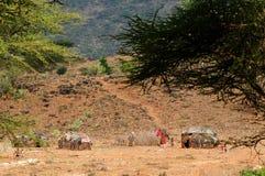 从非洲,肯尼亚的部族人 库存图片
