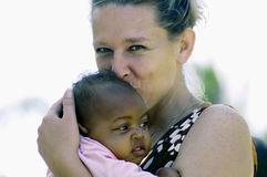 非洲婴孩 免版税库存图片