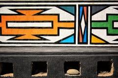 非洲ndebele南村庄 免版税图库摄影