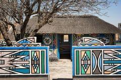 非洲ndebele南村庄 图库摄影
