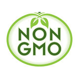 非GMO商标象标志 库存图片