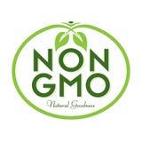 非GMO自然善良商标象标志 库存照片