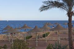 靠岸在旅馆梦想在Sharm El谢赫靠岸在1月 库存图片