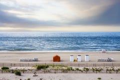 靠岸在日出,开普梅,新泽西,美国 免版税图库摄影