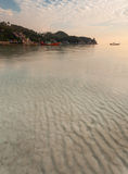 在酸值陶,泰国的海滩 免版税库存照片