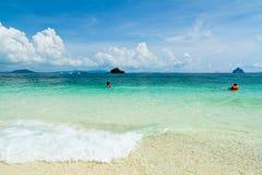 靠岸在Ko发埃发埃唐海岛,泰国上 图库摄影