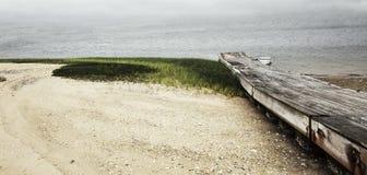 靠岸在Wellfleet港口, Wellfleet,马萨诸塞,鳕鱼角 库存照片