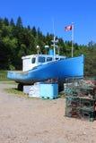靠岸的小船布朗斯维克martins新的st 图库摄影