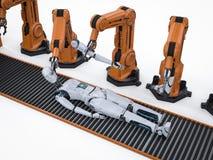 靠机械装置维持生命的人的生产 皇族释放例证