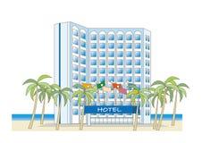 靠海滨的度假旅馆 向量例证