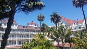 靠海滨的旅馆 库存图片