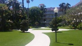 靠海滨的旅馆 免版税库存照片