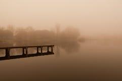 靠码头孤独 库存照片