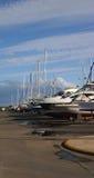 靠码头的干燥 免版税库存照片