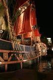 靠码头的海盗船 免版税库存图片