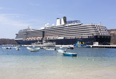 靠码头在墨西哥 免版税库存照片