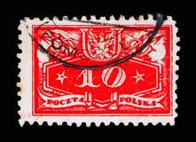 面值下面,官员盖印1920年serie,大约1920年 免版税库存图片