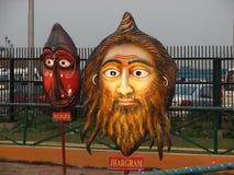 面具庭院在Eco公园,加尔各答 免版税库存照片