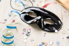 黑面具狂欢节 免版税库存照片