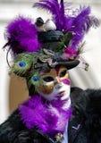 面具的人在威尼斯狂欢节2018年 库存照片