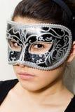 面具的隐姓埋名的妇女 免版税库存照片
