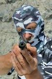 面具的11警察 免版税图库摄影