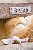 面包丁香大蒜 免版税库存照片
