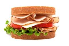 面包三明治火鸡麦子 免版税库存图片