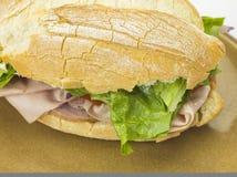 面包三明治充塞用肉 库存图片