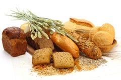 面包不同的产品 免版税库存照片