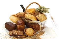 面包不同的产品 免版税库存图片