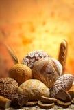 面包不同的组产品 免版税库存图片