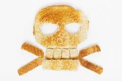 面包两骨交叉图形 库存图片