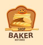 面包传染媒介标签 库存例证
