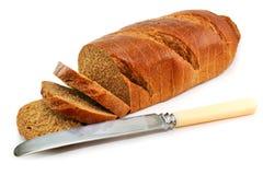 面包全部查出的刀子表的麦子 库存照片