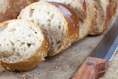 面包切了 图库摄影