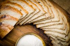 面包切了 库存图片