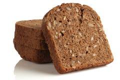 面包切开了成片断 免版税库存照片
