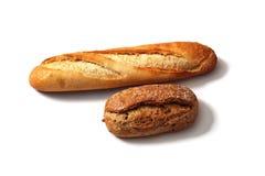 面包制品两个片断  免版税库存图片