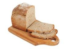 面包剪切大面包 免版税库存图片