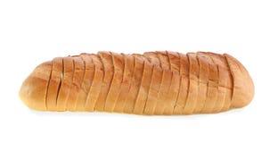 面包剪切查出的片式 免版税库存照片