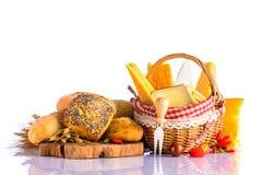 面包和干酪 免版税库存照片