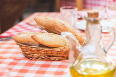 面包和油 库存图片
