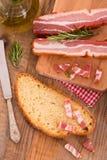 面包和烟肉 库存图片