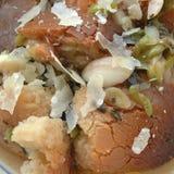 面包和葱汤 免版税库存图片