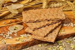 面包和谷物种子 图库摄影